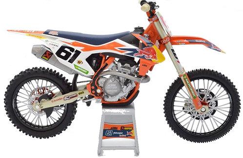Jorge Prado 61 Redbull SXF450 Model Scale 1:12