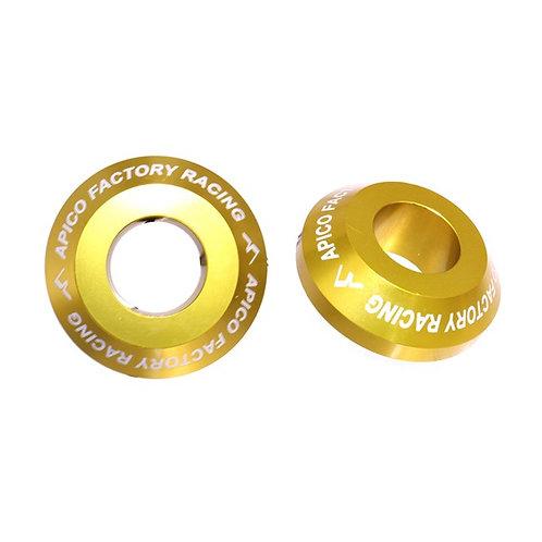 Apico Rear Wheel Spacers Pro RMZ250/450 07-21 Gold