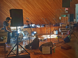 Setting Up for a Concert, June 2018