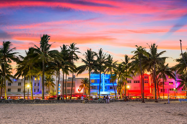 Miami Beach, Florida, USA on Ocean Drive