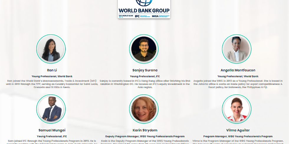 WBG Young Professionals Program – CareerFairy Webinar