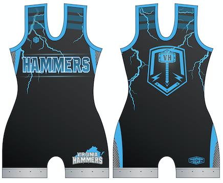 HAMMER CHICKS Blue Singlet