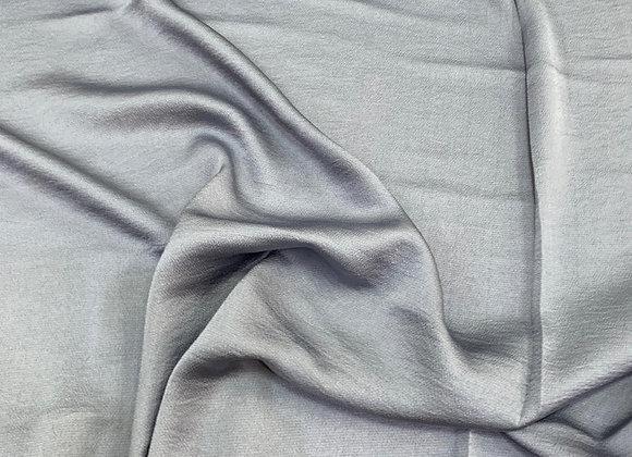 בד קרפ סטן כחול אפרפר