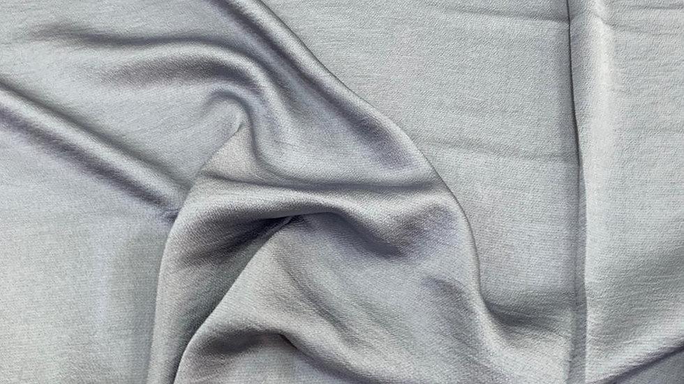 בד קרפ סאטן כחול אפרפר
