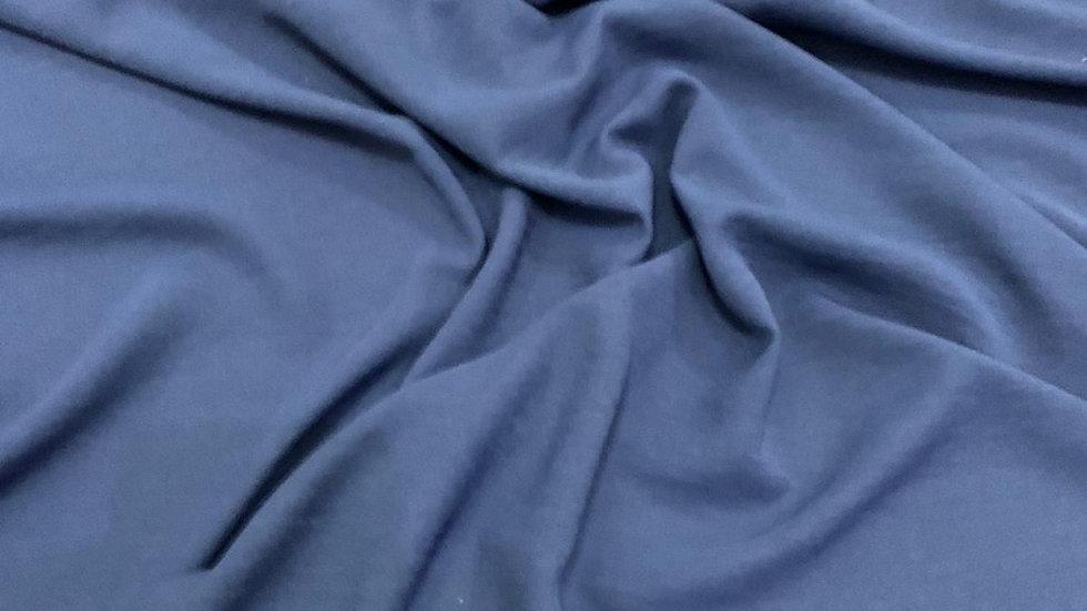 בד קרפ לייקרה כחול נייבי