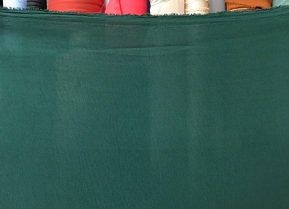 בד קרפ לייקרה ירוק בקבוק