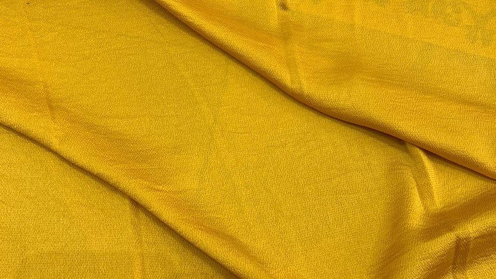 קרפ סאטן צהוב חרדל