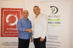 Dr Salustino Wong et Martin Kountchev, directeur de Yao Dao