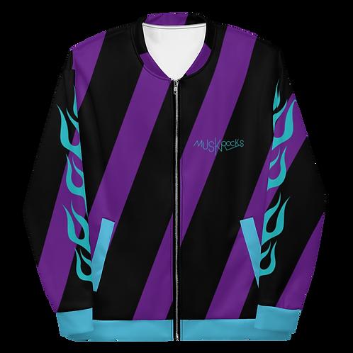 Diagonal stripes Unisex bomber jacket