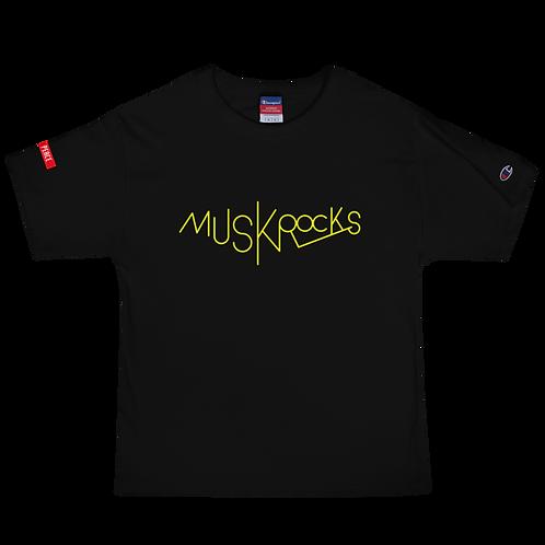 MUSKROCKS×Champion T-Shirt