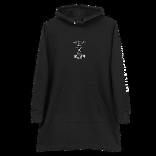 MUSKROCKS×ASAHI Print hoodie dress
