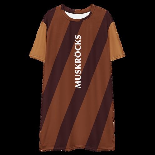 Diagonal stripes T-shirt dress