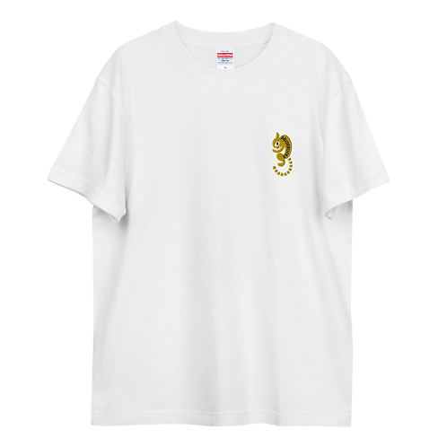 Curled cat embroidery Tshirts