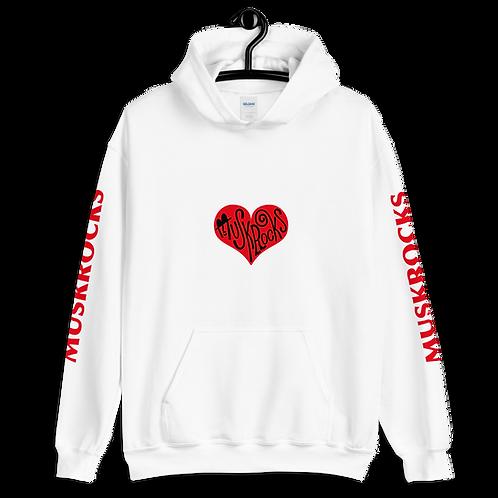 Red heart Unisex Hoodie