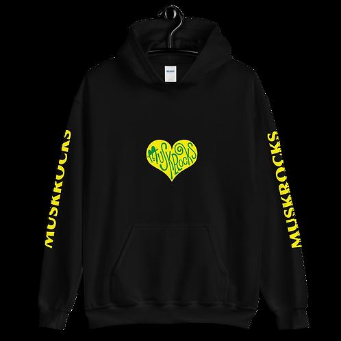 Yellow heart Unisex Hoodie