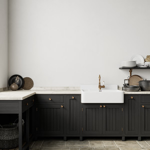 In-frame Painted Kitchen