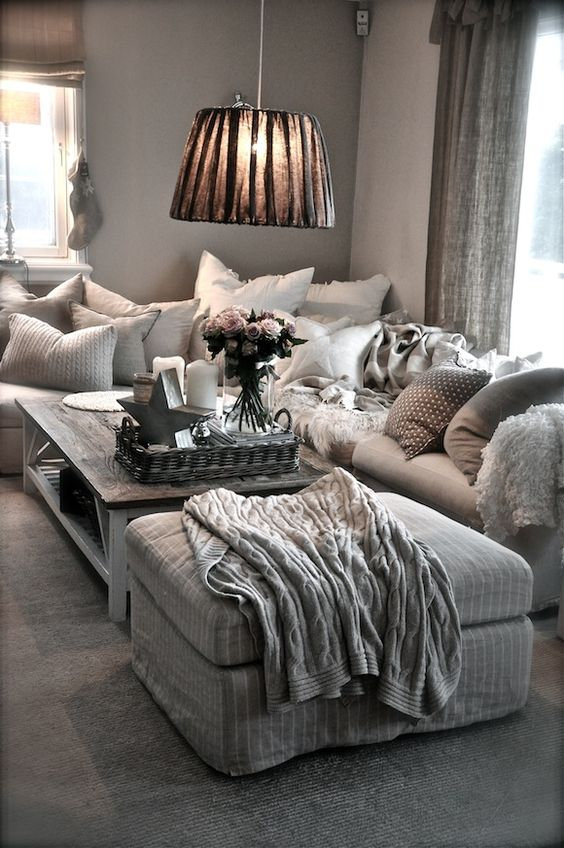 Create a relaxed, cosy, comfortable, rustic and relaxed interior designed home