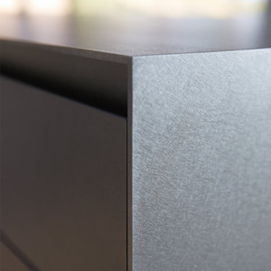 Hot-rolled and brushed stainless steel