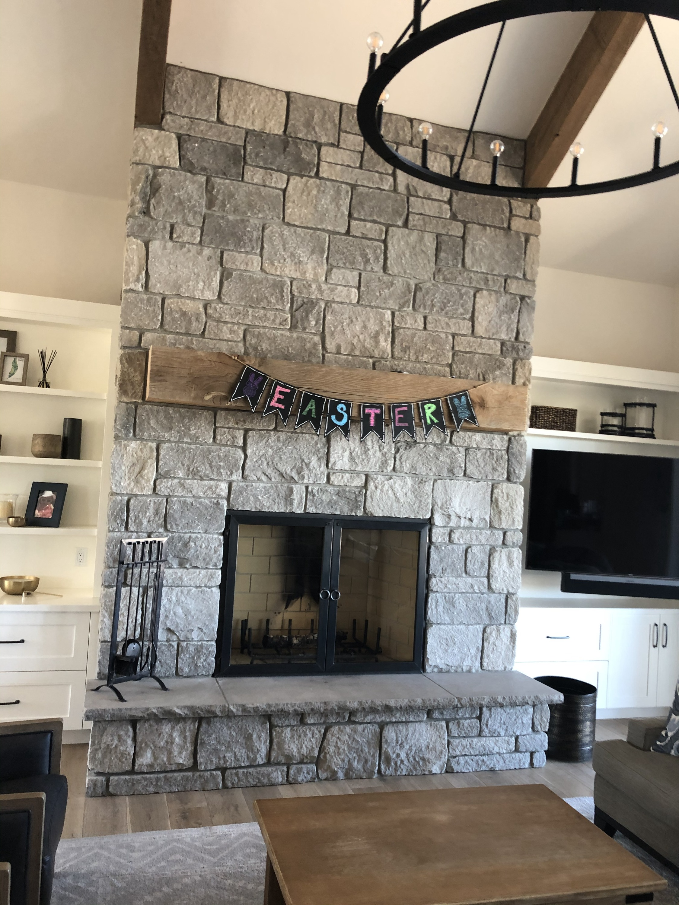 Full Fireplace with Doors