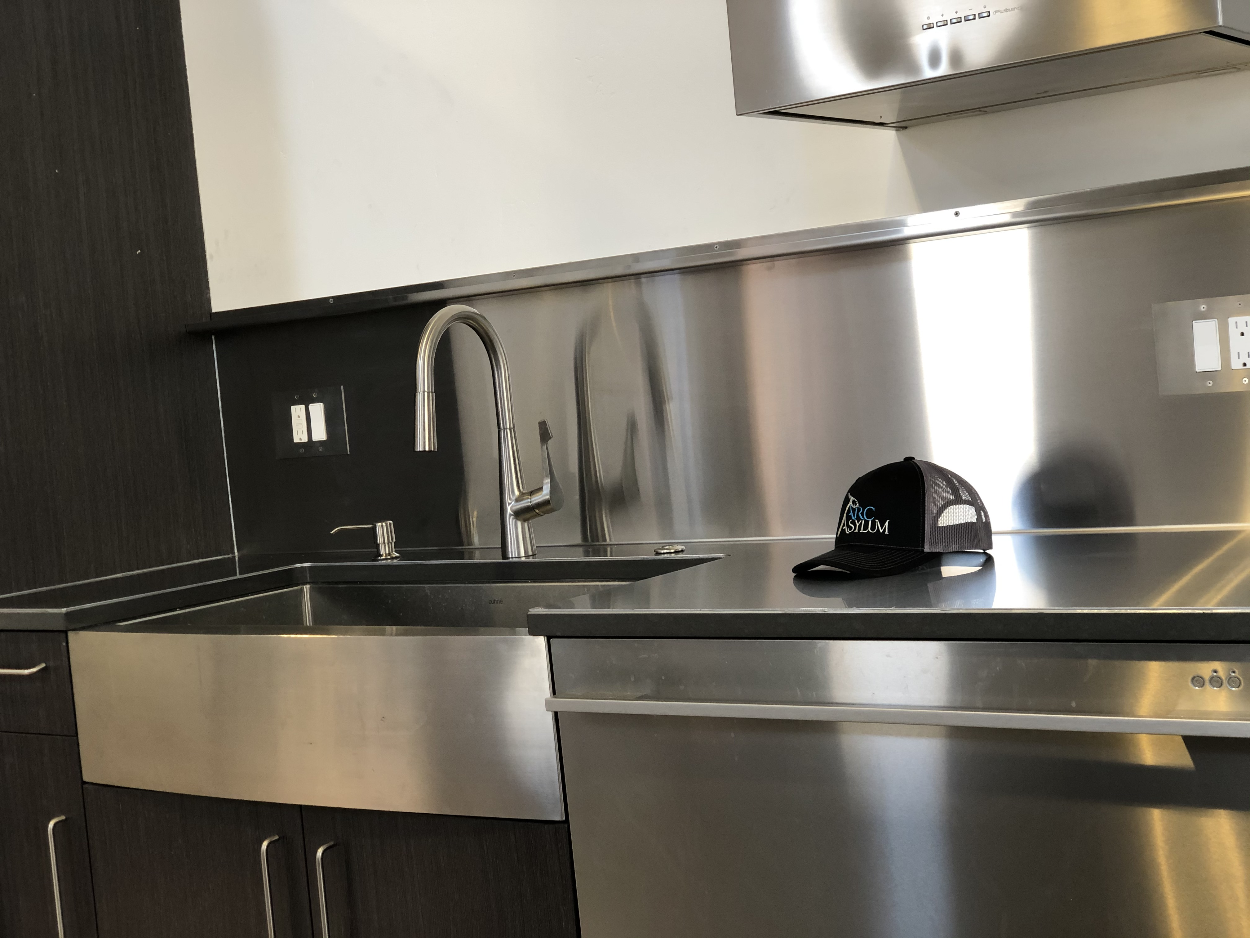 Stainless Counter Backsplash