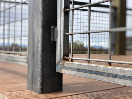 Raw Steel Railing