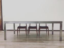 Arc Asylum Steel Dining Table