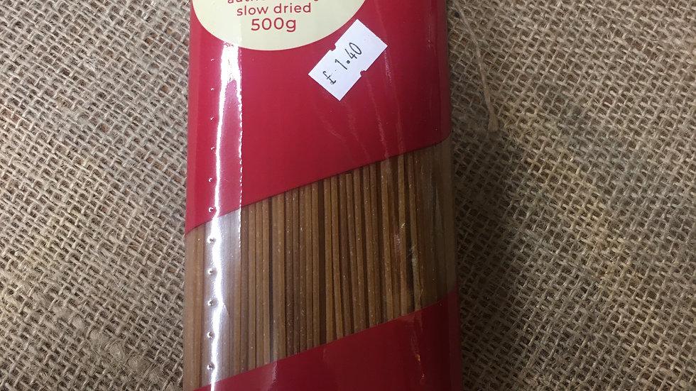 Organic Wholewheat Spagetti
