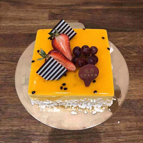 Passionfruit Mousse Cake