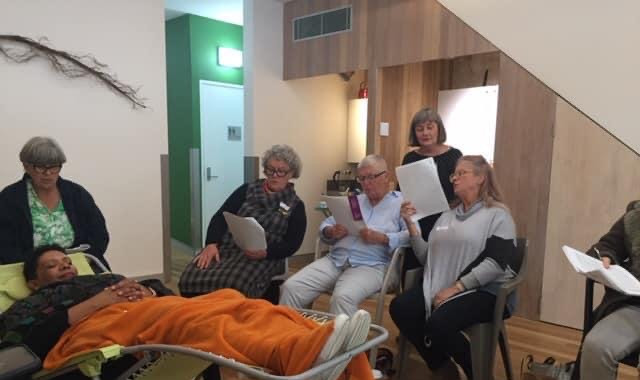 Singing beside the bedside training, West Ryde