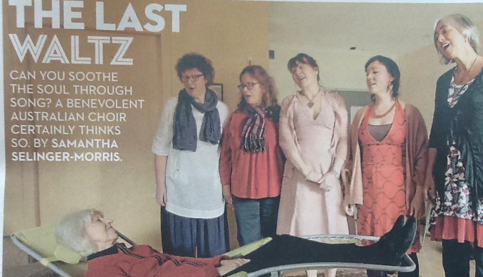 The Last Waltz newspaper article in the Good Weekend, 2013