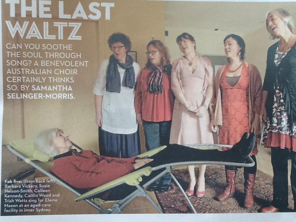 The Last Waltz newspaper article in the Good Weekend, 2013