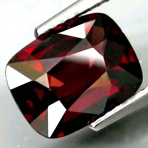 3.21 ct Natural Dark Red Spinel VS from Tanzania