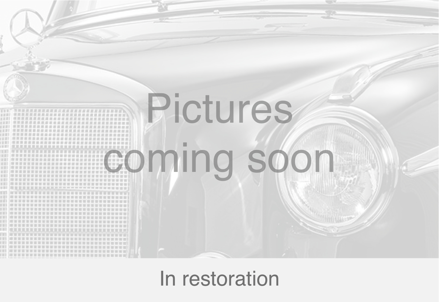 Mercedes Benz Ponton 220 S black