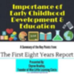 First 8 Years, Chyron Bradley, Annie E. Casey Foundation