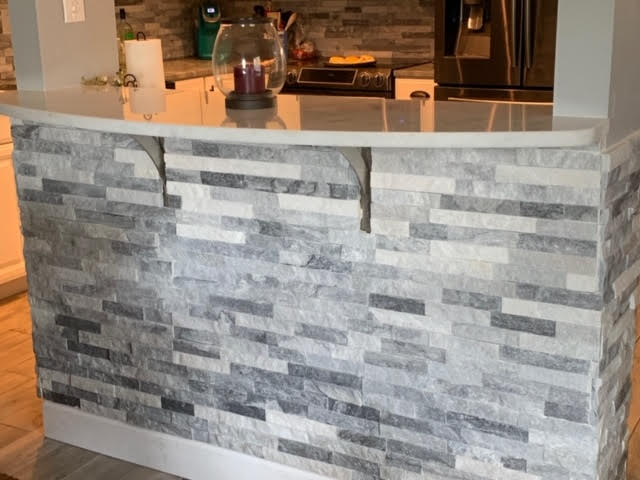 Kitchen remodel - island stackstone