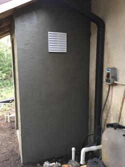 Water closet - stucco