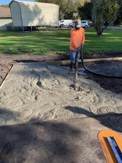 concrete - driveway project