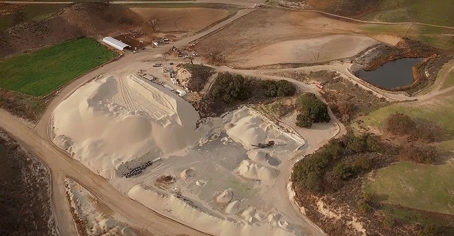 16 Sand Pile Aerial