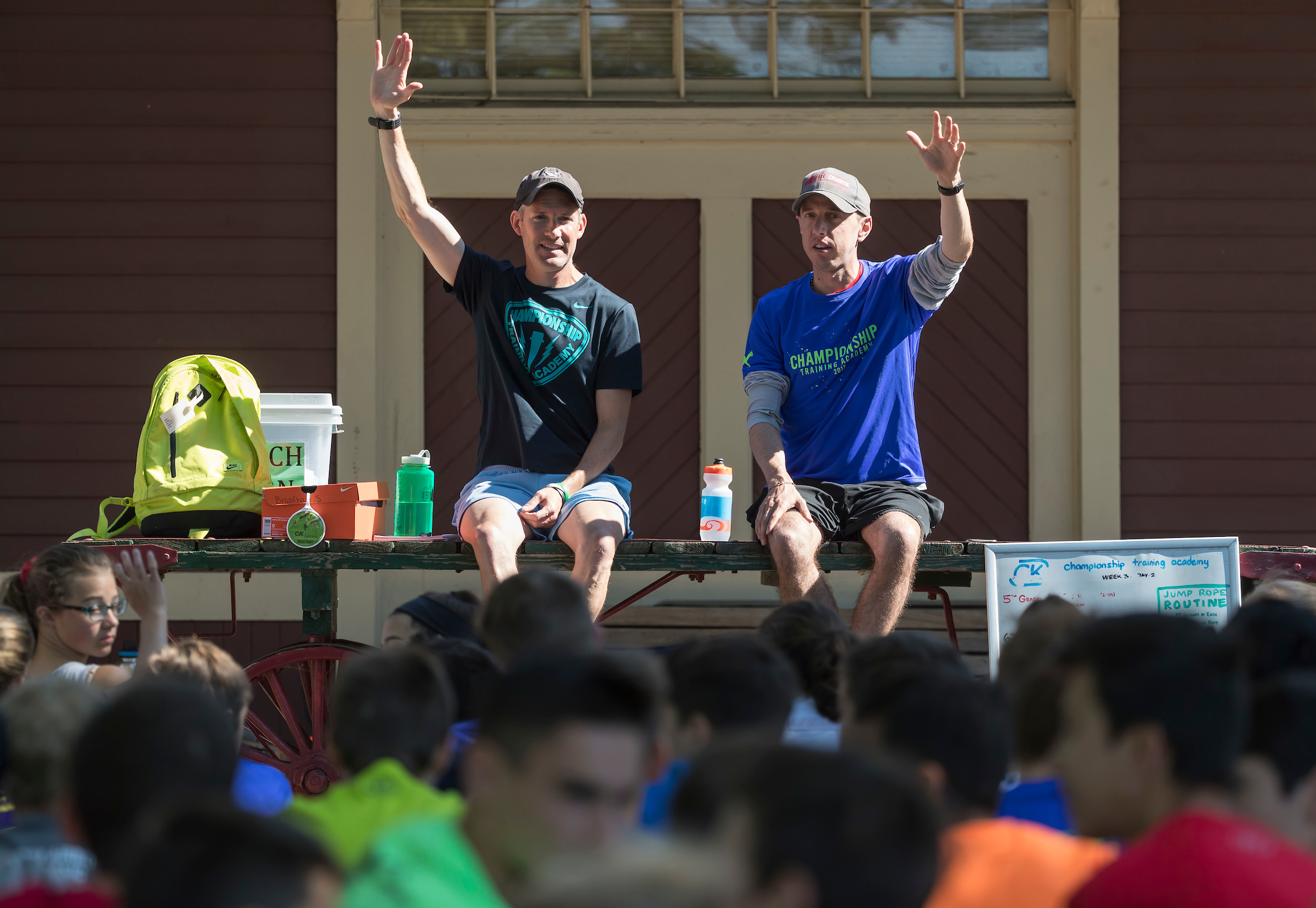 Alan Webb, the American record holder in the mile, came to CTA to inspire young runners