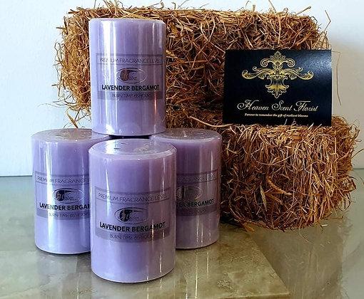 Lavender & Bergamot Pillar Candle