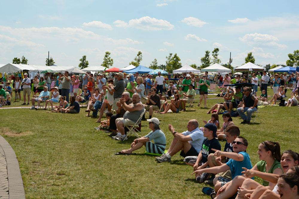 Crowds enjoying The Irish Festival