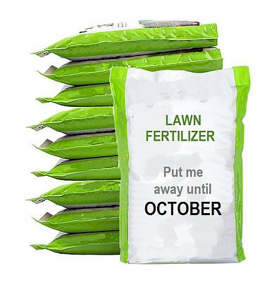 Don't fertilize your lawn during the sum