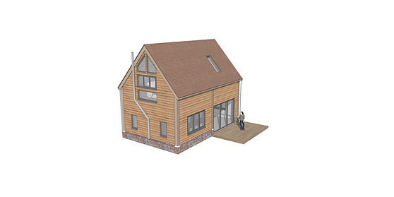 3D sketchup render barn conversion in buckingshamshire