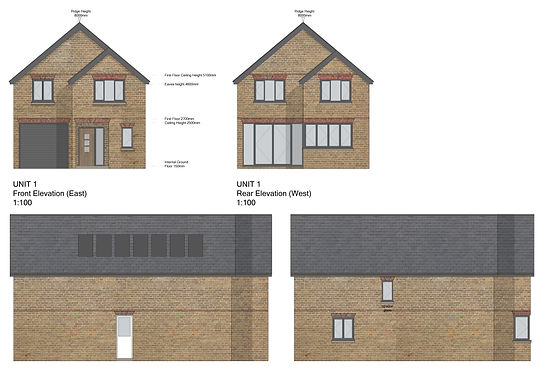 Photoshop rendered elevations. Residential project in buckinghamshire