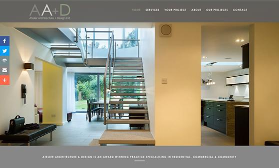 screenshot of updated website with new branding