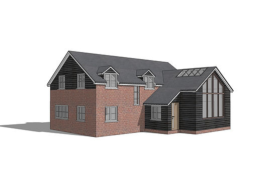 3D sketchup render residential project in buckinghamshire
