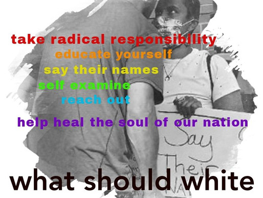 what should white people do?