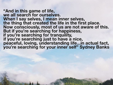 The search for Self.