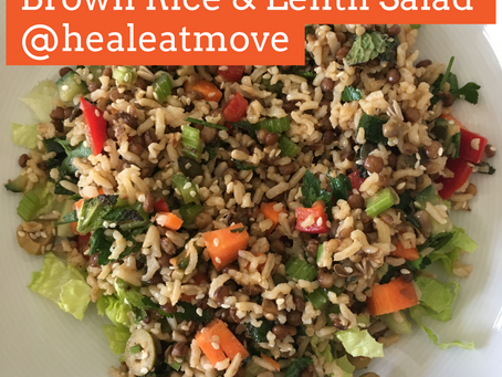 Brown Rice & Lentil Salad