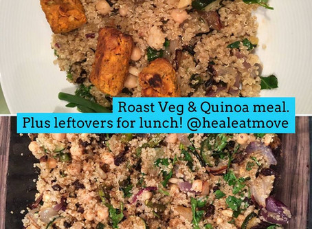 Roast Vegetables and Quinoa meal